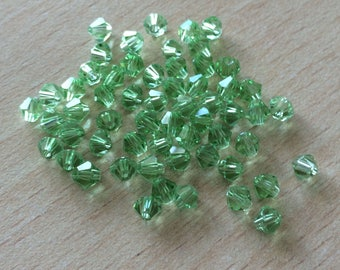 Bag of paradise green bicone faceted beads