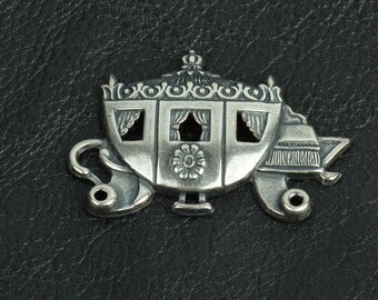 Cinderella Coach Metal Stamping, Classic Silver, pk/2 15289CS