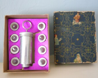 Vintage Cake Decorating Set by Mirro with Original Instructions and Eight Design Tips