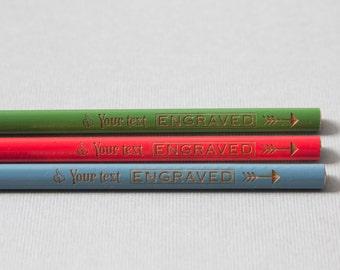 Lot de 3 personnalisé gravés crayons triangulaires Koh-I-noor Triograph