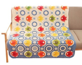 PDF download CROCHET Blanket Pattern,Fish World  Blanket pattern,new baby blanket,animal blanket pattern