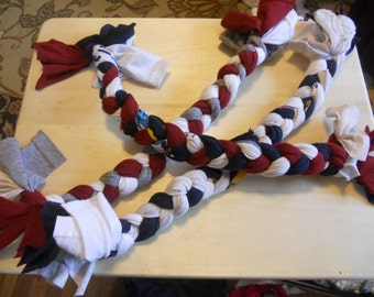 Recycled T-Shirt Dog Rope Toy Large