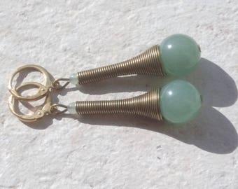 Green aventurine - lightweight earrings earrings