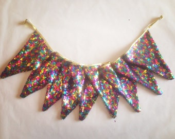 Rainbow Sequin Bunting