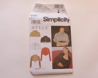 Simplicity Pattern #9182: Misses' Caplet and Knit Jacket, Size A (8-18) UNCUT