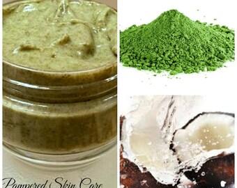 Japanese Organic Matcha Green Tea & Coconut Hair Paste/Mask -Revitalizing, Conditioning, Repair - 2 oz Jar, Silk Amino Acids, Pro Vitamin B5