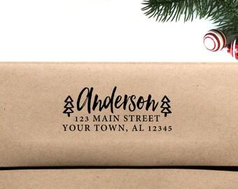 Holiday Return Address Envelope Printing (5 Prints) - Christmas Tree Address Printing, Return Address Printing, Envelope Printing