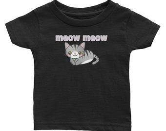 Meow Meow Kitty Cat Infant Tee Tshirt