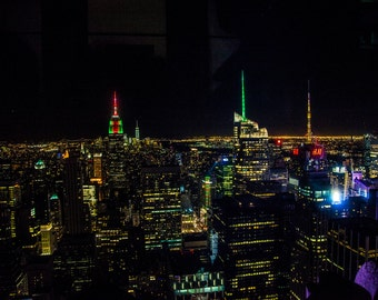 New York Skyline, New York City Print, Fine Art Photography, Wall Art, Manhattan, Giclee Art Print, Night Sky, Deborah Julian