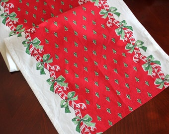 Christmas Table Runner - Retro Candy Cane Print