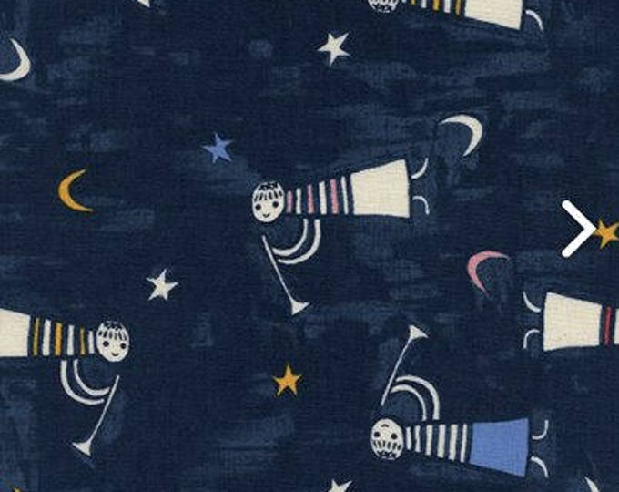 Noel by Cotton + Steel - Angels Singing Navy - Cotton Woven Fabric