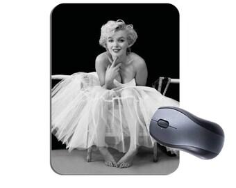 Marilyn Monroe Ballerina Mouse Mat. High Quality Computer Mouse Pad. Movie Star Celebrity Memorabilia Ballet Gift