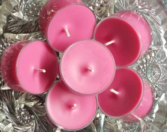 Love Spell Scented Tea Light Candles - All Natural Soy Wax (Set of 6) - 5 Hour Burn