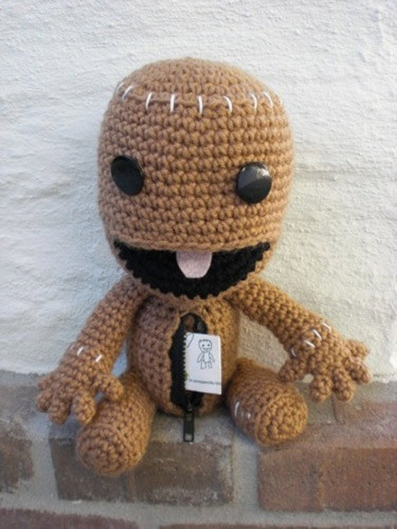 Sackboy Pattern Crochet Amigurumi Open Mouth Zipper from amiamour on ...