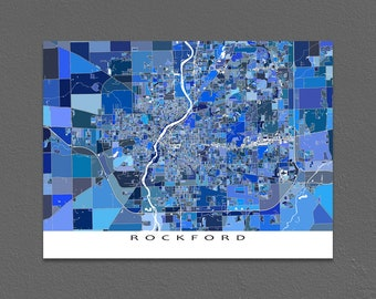 Rockford map Etsy