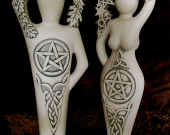 Pentacle Goddess, Lord Statue or both by Abby Willowroot ~ Exclusive SALE + reduced S/H + small Gift included with the couple purchase