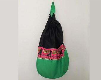 Vintage backpack / sports bag / surfer bag / beach backpack / beach bag / 90s backpack / bucket bag