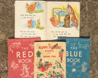 Vintage Childrens Books - Vintage School Books - Gay Way Books - 1950s Vintage Books - Teacher Gift - Fox Hen Story Book - 1960s Kids Books
