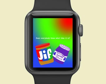 Apple Watch Background - Peanut Butter Jelly Time!