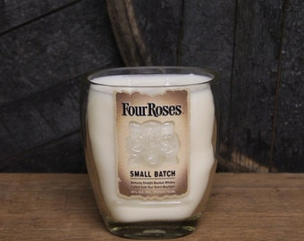 Four Roses Bourbon Candle, Father's Day Gift, Bourbon Gift, Whiskey Present, Whiskey Gift Bourbon Lovers Gift