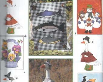 Simplicity 9019 Lawn Geese Goose Seasonal Clothing And Flags Sewing Pattern UNCUT