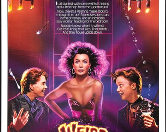 WEIRD SCIENCE MOVIE Poster - 3 Size Options - Includes a Free Surprise A3 Poster (1)