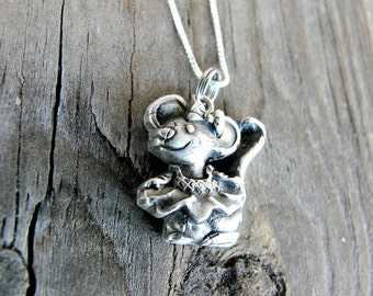 Mouse Necklace - Mouse Pendant - Silver Mouse - Mouse Jewelry - Animal Necklace - Gift For Her - Mouse Jewelry - Animal Lover Gift
