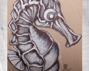 Seahorse-fine art print limited edition