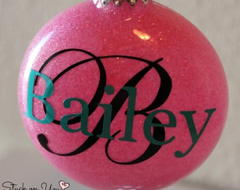 Personalized Glitter Christmas Ornament