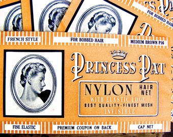 Ephemera, Vintage French Advertisement,  Princess Pat Nylon Mesh Hairnet, Premium Coupon in French, 1930's Hairnet