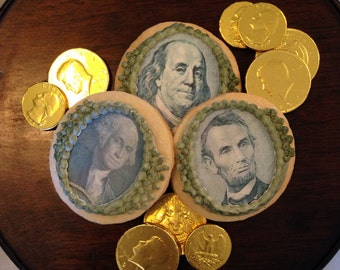 Edible Money, United States Currency Money Portrait Cupcake, Cookie, Oreo or Drink Toppers - Wafer Paper or Frosting Sheet