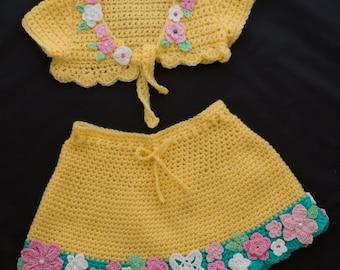 Baby set bolero and skirt