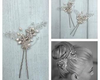 Leonie Corsage Pin wedding hair accessory bridal hair pin