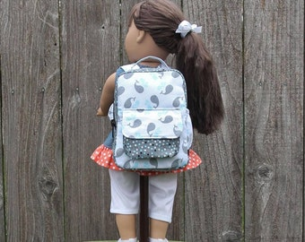18 15 Inch Doll Clothes American Made Girl Boys Kids Whale Backpack Doll Accessories Doll Dresses Doll Clothing Gifts Under 30 Ready Made