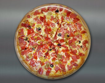"3.5"" Refrigerator Magnets, pizza lover decor, pizza fridge magnet, housewarming gift, food magnets, kitchen decor, stocking stuffer, MA-1616"