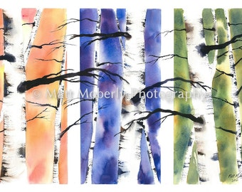 Reaching Out Fine Art print from original watercolor