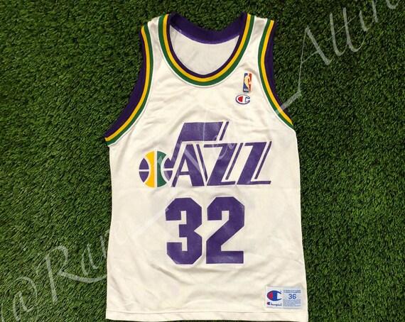 Vintage Champion NBA Jersey Utah Jazz Karl Malone wWhN5mRvrG