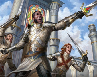 Sergeant-at-Arms Print of Magic: The Gathering Illustration by Scott Murphy