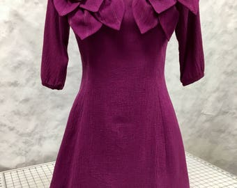 Purple petals dress with sleeves