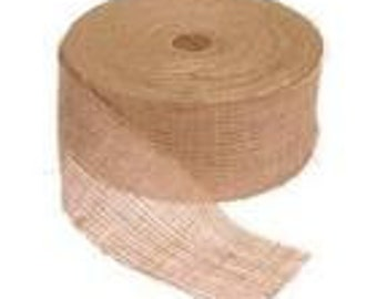 "3"" burlap ribbon  - 100 yards"