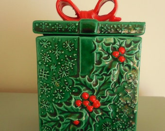 Vintage Christmas Box Container