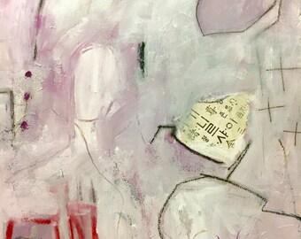 Original Abstract Art on Paper, Mixed Media, Modern Art, Home Decor