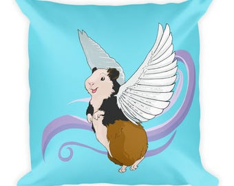 When (Guinea) Pigs Fly Square Pillow