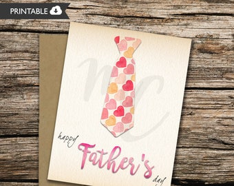 PRINTABLE Fathers Day Card From Her - wife - daughter