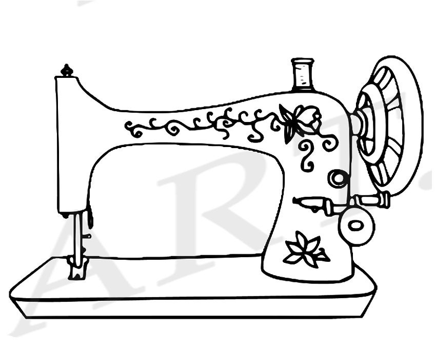 50 off sewing machine clipart sewing machine clip art vintage rh etsystudio com sewing machine clipart black and white sewing machine clipart png
