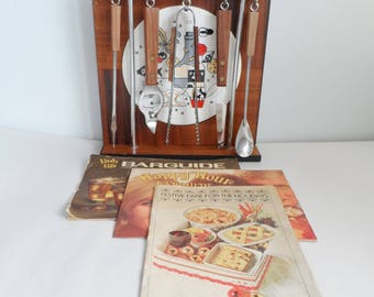 Vintage Barware set made in Japan with recipe booklets!