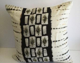 Hand tie dye batik beaded pillow
