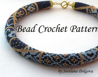 "Pattern for bead crochet necklace ""Marrakesh"",Crochet Necklace Pattern,seed bead necklace patterns,bead necklace,"
