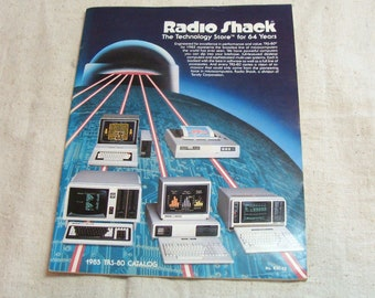 1985 Radio Shack TRS-80 Catalog, Great Vintage Computers, Software, Accessories, and PRICES!