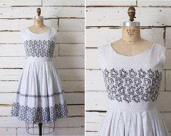 anthology dress  //  vintage 1950s cotton dress